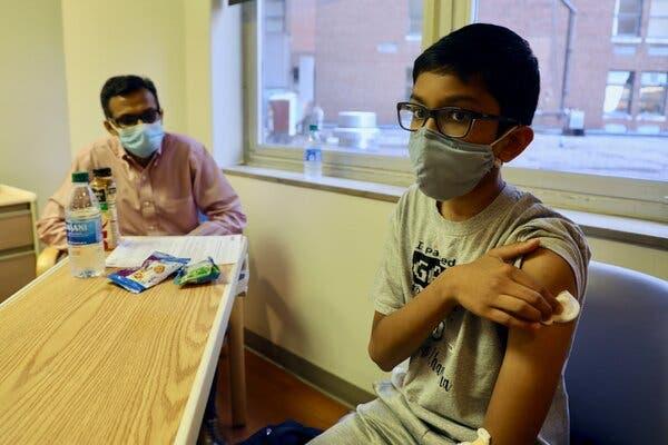 Abhinav, 12, was a participant in the Pfizer vaccine trial at Cincinnati Children's Hospital in October.