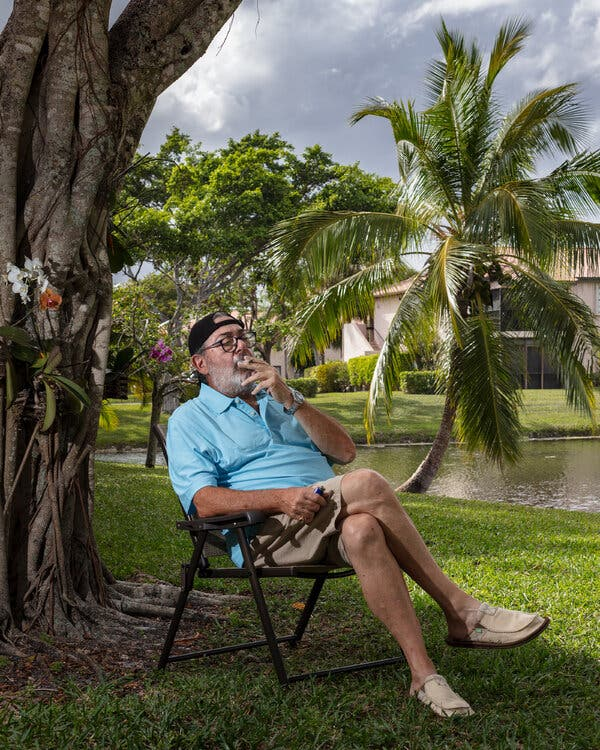 Harry Lebowitz, who has a Florida state medical marijuana card for his anxiety, sleep apnea and back pain, credits cannabis with helping to wean him off several prescription drugs.